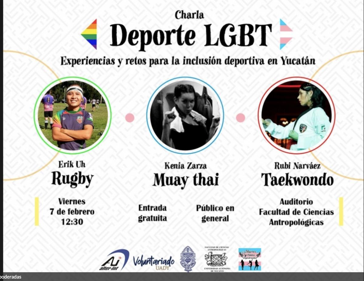 Retos de la comunidad LGBT en el deporte, tema de plática en la UADY