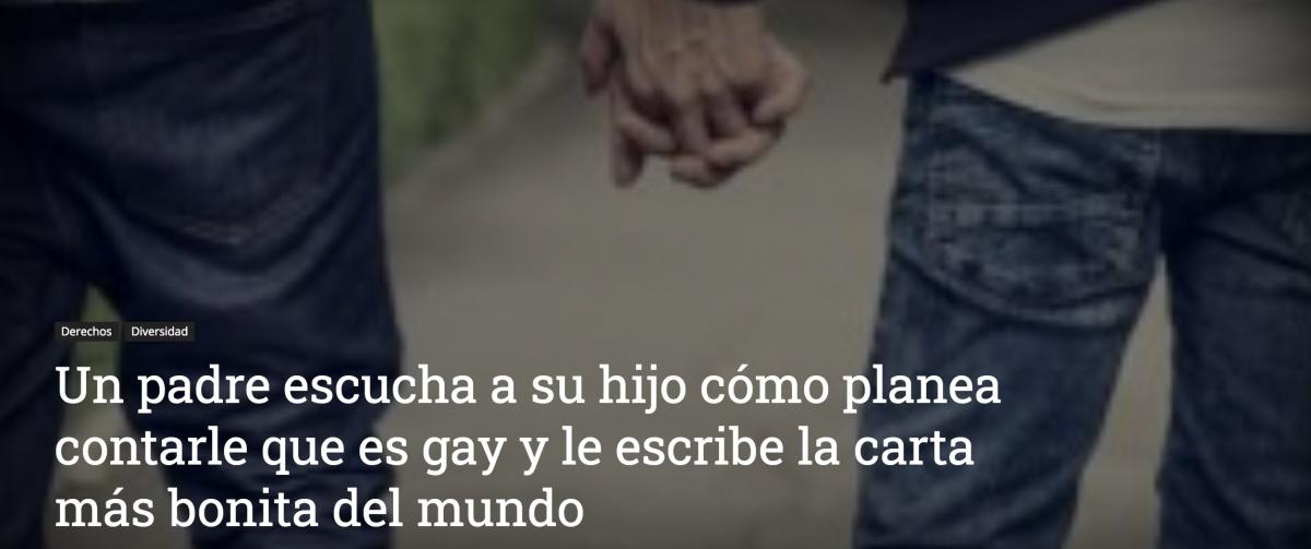 Un padre escucha a su hijo cómo planea contarle que es gay y le escribe la carta más bonita del mundo