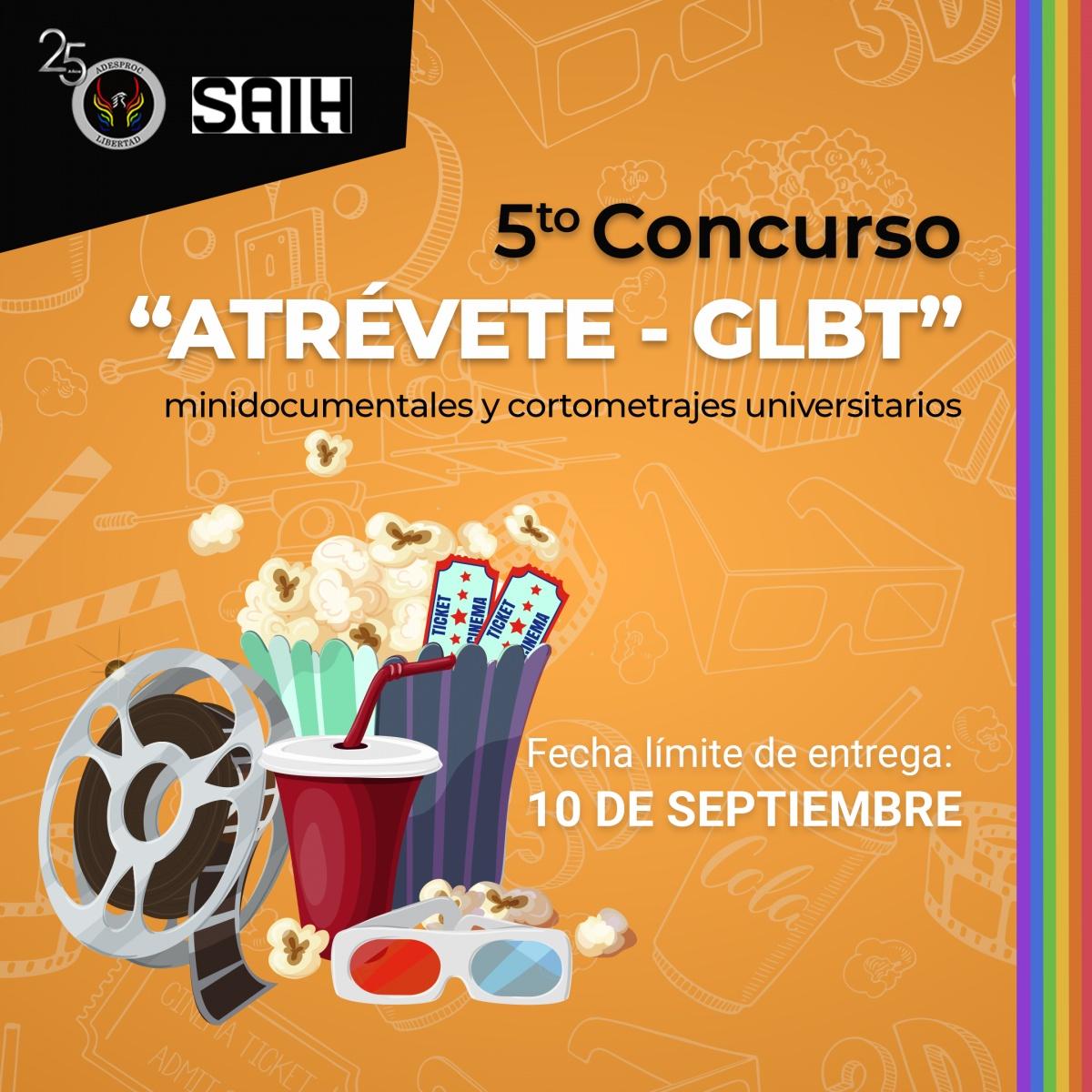 """Convocatoria: Concurso """"Atrévete - GLBT"""" 2021"""