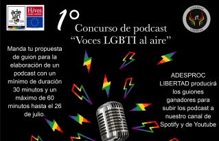 "Convocatoria Concurso de podcast ""Voces LGBTI al aire"""