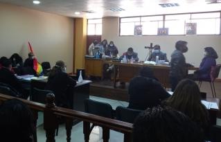 Primera audiencia de juicio oral Litzy Hurtado