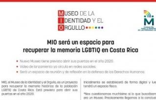 Costa Rica tendrá su Museo de la Identidad y el Orgullo LGTBQ