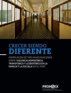 Crecer siendo diferente Compilación de tres investigaciones sobre violencia homofóbica, transfóbica y lesbofóbica en la familia y la escuela en el Perú