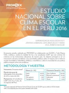 Estudio Nacional sobre Clima Escolar en el Perú Experiencias de adolescentes y jóvenes lesbianas, gays, bisexuales y trans en el ámbito escolar