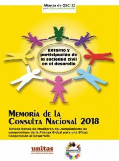 Entorno y participación de la sociedad civil en el desarrollo Memoria de la Consulta Nacional 2018