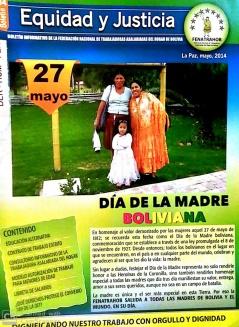 Boletín 34 Equidad y Justicia: Día de la Madre boliviana