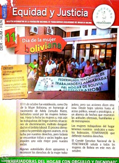 Boletín 35 Equidad y Justicia: Día de la Madre boliviana