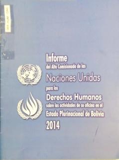 Informe del Alto Comisionado de las Naciones Unidas para los Derechos Humanos sobre las actividades de su oficina en el Estado Plurinacional de Bolivia